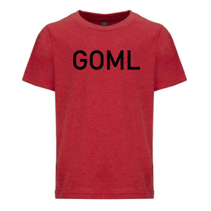 red GOML youth crewneck t shirt for boys