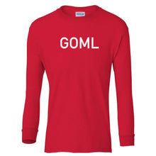 Load image into Gallery viewer, red GOML youth long sleeve t shirt for boys