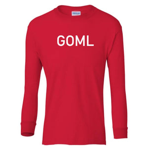 red GOML youth long sleeve t shirt for boys