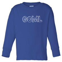 Load image into Gallery viewer, blue GOML long sleeve t shirt for toddlers