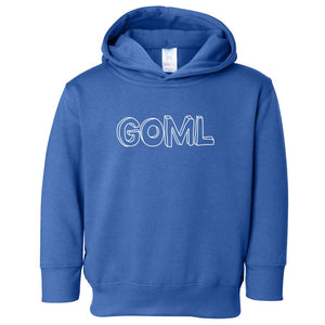 blue GOML hooded sweatshirt for toddlers