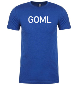 blue goml mens crewneck t shirt