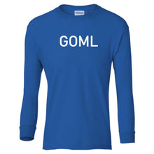 Load image into Gallery viewer, blue GOML youth long sleeve t shirt for boys