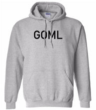 Load image into Gallery viewer, grey GOML hooded sweatshirt for women