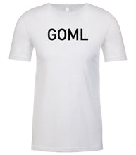 Load image into Gallery viewer, white goml mens crewneck t shirt