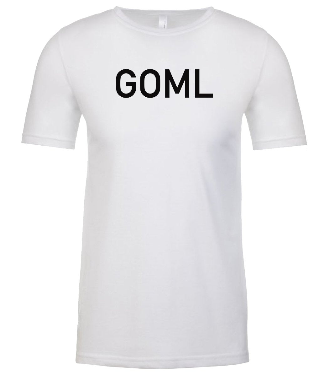 white goml mens crewneck t shirt