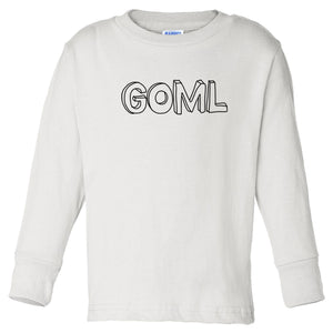 white GOML long sleeve t shirt for toddlers
