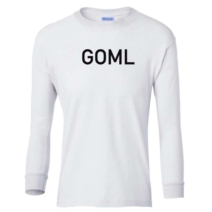 white GOML youth long sleeve t shirt for boys