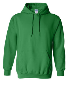 green pullover hoodie