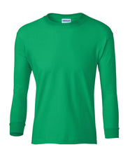 Load image into Gallery viewer, green youth long sleeve t shirt