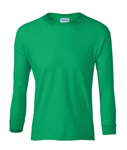 green youth long sleeve t shirt