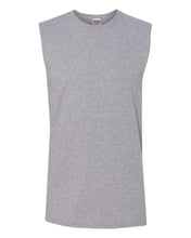 Load image into Gallery viewer, heather grey men's sleeveless t-shirt