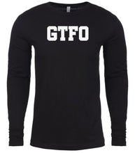 Load image into Gallery viewer, black gtfo mens long sleeve shirt