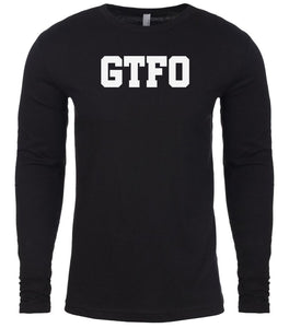 black gtfo mens long sleeve shirt