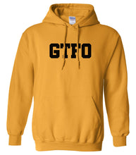 Load image into Gallery viewer, yellow gtfo mens pullover hoodie