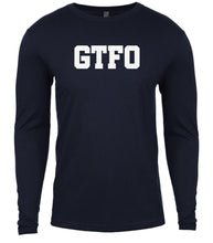 Load image into Gallery viewer, navy gtfo mens long sleeve shirt