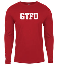 Load image into Gallery viewer, red gtfo mens long sleeve shirt