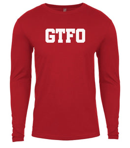 red gtfo mens long sleeve shirt