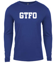 Load image into Gallery viewer, blue gtfo mens long sleeve shirt