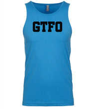Load image into Gallery viewer, blue gtfo mens tank top