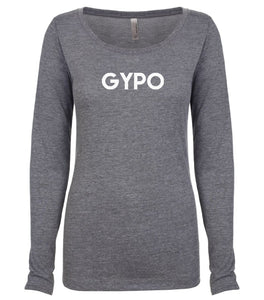 grey GYPO long sleeve scoop shirt for women