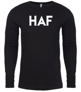 black haf mens long sleeve shirt