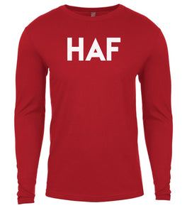 red haf mens long sleeve shirt