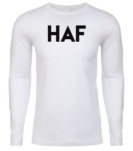 white haf mens long sleeve shirt