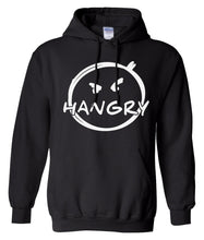 Load image into Gallery viewer, black hangry pullover hoodie
