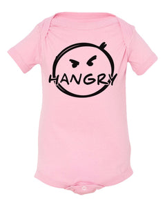 pink hangry baby onesie