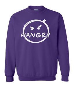 purple hangry sweatshirt