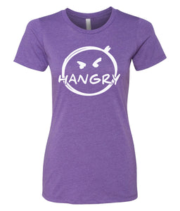purple hangry women's crewneck t shirt
