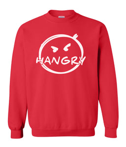 red hangry sweatshirt