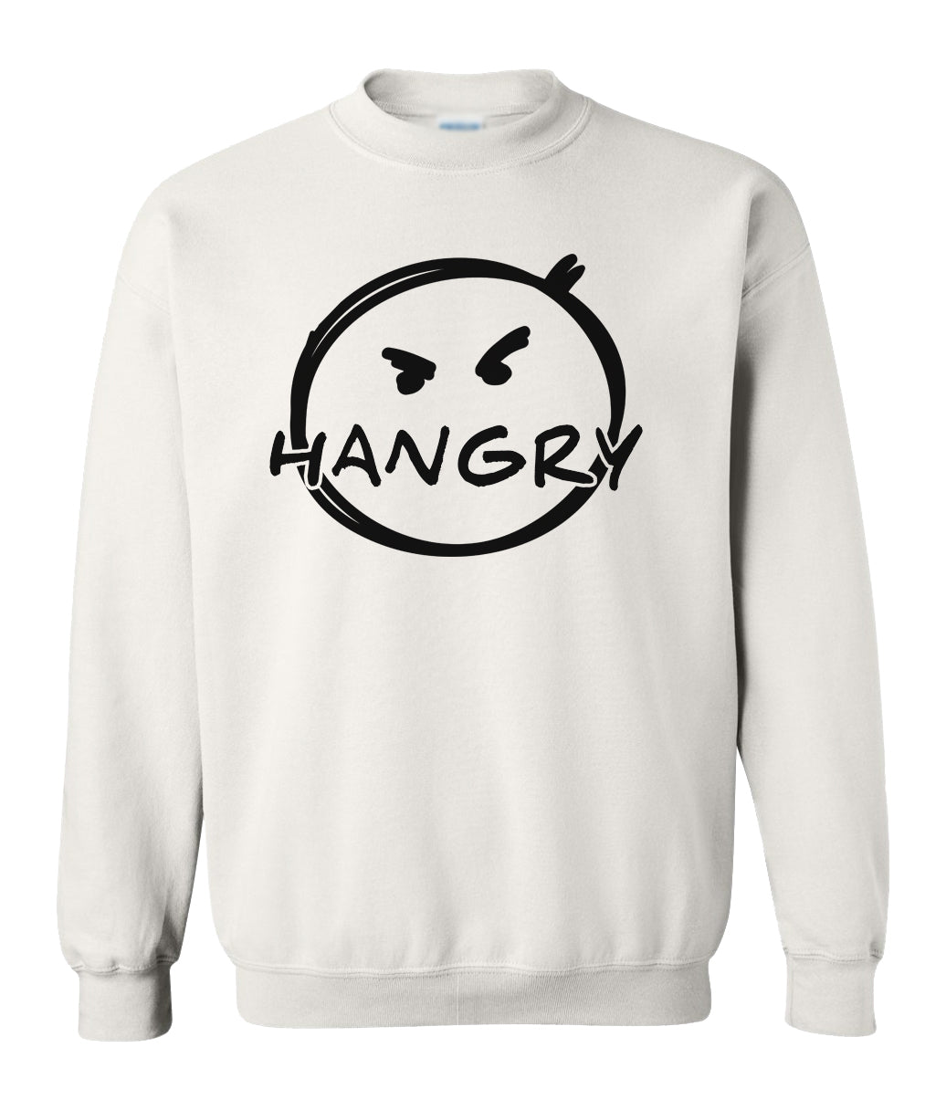 white hangry sweatshirt