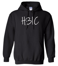 Load image into Gallery viewer, black HBIC hooded sweatshirt for women