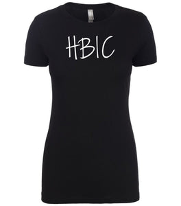 black hbic womens crewneck t shirt