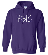 Load image into Gallery viewer, purple HBIC hooded sweatshirt for women