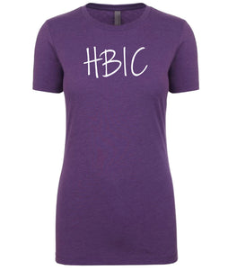purple hbic womens crewneck t shirt