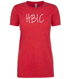red hbic womens crewneck t shirt
