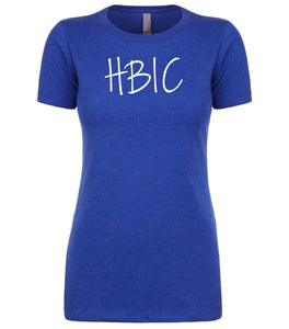 blue hbic womens crewneck t shirt