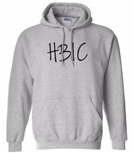 Load image into Gallery viewer, grey HBIC hooded sweatshirt for women