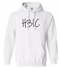 Load image into Gallery viewer, white HBIC hooded sweatshirt for women