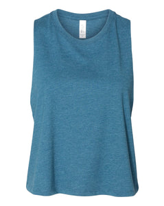 teal crop top tank top