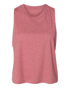 mauve crop top tank top