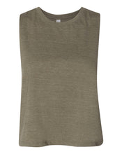 Load image into Gallery viewer, olive crop top tank top