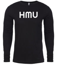 Load image into Gallery viewer, black hmu mens long sleeve shirt