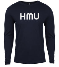 Load image into Gallery viewer, navy hmu mens long sleeve shirt
