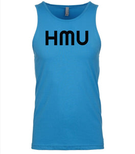 blue hmu mens tank top
