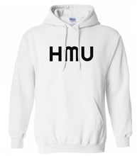 Load image into Gallery viewer, white hmu mens pullover hoodie