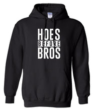 Load image into Gallery viewer, black hoes before bros pullover hoodie